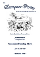 Der Flyer zur Lumpenparty