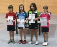 Yasmine Khattabi (zweite von rechts) bei der Siegerehrung der C-Schülerinnen.