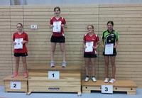 Siegerehrung Tischtennis-Kreiseinzelmeisterschaften 2015 Schülerinnen A Einzel