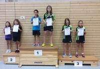 Siegerehrung Tischtennis-Kreiseinzelmeisterschaften 2015 Schülerinnen B Doppel