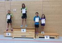 Siegerehrung Tischtennis-Kreiseinzelmeisterschaften 2015 Schülerinnen B Einzel