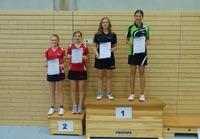Siegerehrung Tischtennis-Kreiseinzelmeisterschaften 2015 weibliche Jugend Doppel