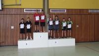3. Platz bei den Tischtennis-Kreiseinzelmeisterschaften 2016 im B-Schüler Doppel Calvin Habel und Florian Kobler (von rechts nach links)