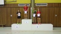 3. Platz bei den Tischtennis-Kreiseinzelmeisterschaften 2016 im A-Schülerinnen Einzel Vivien Habel (2. von rechts)