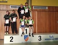 3. Herrenmannschaft Kreispokalsieger der 3. Kreisklasse. Auf dem Foto stehend von links nach rechts Lothar Gerhardt und Jens Grabow, sowie sitzend von links nach rechts Christian Scheiber und Simon Henz.