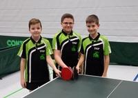 2. B-Schülermannschaft Florian Kobler, Youness Hantari und Calvin Habel (von links nach rechts)