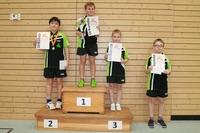 Tischtennis-Vereinsmeisterscahften 2015 - Siegerehrung Einsteiger