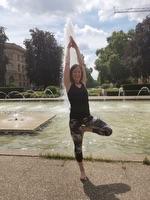 Unsere neue Yoga-Übungsleiterin Melanie Wieland.